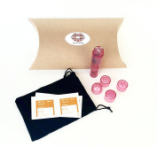 Love Monkey Pink Vibrating Massager Pocket Rocket with Pouch and Cleansing Wipes