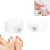 Fenical Body Slimming Healthy Silicone Magnetic Toe Rings - One Pair