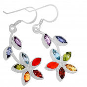 Xtremegems Healing Chakra 925 Sterling Silver Earrings Jewellery 1 3/4 AAACP202