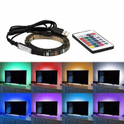 SUPERNIGHT 5050 USB Remote RGB LED Bias Lighting Strip Colour Changing HDTV Backlight PC Monitor Computer Case Back Lighting