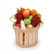 Miniature Fall Basket with Fruit & Vegetables Dollhouse Fairy/ Gnome Garden