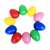 Buytra 10 Pack Plastic Percussion Musical Toys Egg Maracas Shakers with Assorted Colours for Kids Party Favours