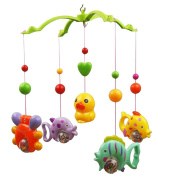 FENICAL Baby Crib Mobile Music Bed Bell Music Bed Bell Set Funny Fish Crab and Duck Educational Toy