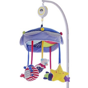 SHILOH Baby Crib Mobile with Musical Box & Holder, Blue Space