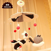 SHILOH Baby Crib Mobile with Musical Box & Holder, Black and White