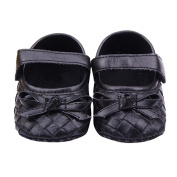 Fulltime(TM) Baby Infant Kids Girls Grid Bow Soft Sole Toddler First Walking Shoes