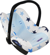 Dooky Infant Car Seat Cover Universal . Protector For Baby Carrier Blue
