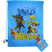 PAW Patrol Blue Yelp for Help Drawstring School Sports Gym & Swimming Bag