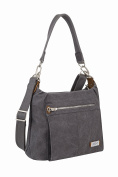 Travelon Anti-theft Heritage Hobo Bag, Pewter, One Size