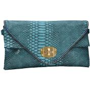 Womens Smart Animal Croc Print Faux Leather Envelope Clutch Bag Purse