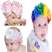 3pcs Baby headband flower blossom hair ornaments Headband hairband flower hairband Photography