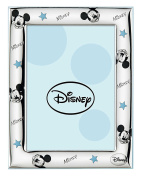 Valenti - Mickey Mouse Silver Glass Photo Frame 9 x 13