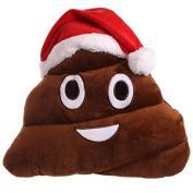 EMOJI CHRISTMAS POOP CUSHION