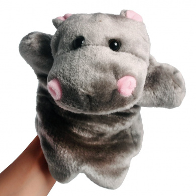 Andux Zone Lovely Animal Hand Puppet, 3 Style to Choose - Hippo, Panda or Squirrel (SO-01)