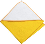 Kinderbutt hooded bath towel terry yellow size 80x80 cm