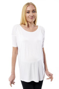 Women's Loose Fit Shirt with Cut on the back Maternity Dark T-Shirt Maternity Wear