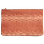 Clutch Pink Snake Light Pink Leatherette Texture Snake Skin Cracked Soft with Zip Closure as Handbag