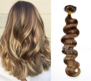HotQueen Remy European Clip In Human Hair Extensions Highlights Ombre Wavy 7pcs 100g