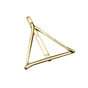 Vintage Metal Triangle Hairpin Girls' Hair Clips Hair Beauty Accessory Gold Triangle