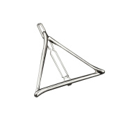 Vintage Metal Triangle Hairpin Girls' Hair Clips Hair Beauty Accessory Silver Triangle