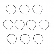 SelfTek 10Pcs Spring Wave Metal Hoop Women Men Elastic Sports Hair Band