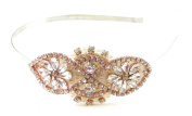 Rose Gold Silver Ivory Pearl Headband Headpiece Bridal Vtg 1920s Diamante 607 *EXCLUSIVELY SOLD BY STARCROSSED BEAUTY*