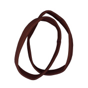 OMYGOD Extra thick dark brown pony hair bands - pack of 2 - diameter