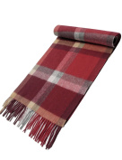 WM Beauty 100% Cashmere Warm Soft Tartan British Style Autumn and Winter Scarf/Shawl for Women and Girls