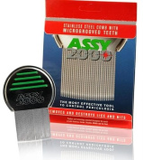 Assy 2000 Terminator Lice Comb, Professional Stainless Steel Louse and Nit Comb for Head Lice Treatment.