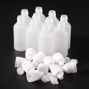 AllRight 10 x Plastic Squeezable Dropper Bottles Eye Liquid Ejuice Empty Dropper White 20ML