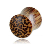 Supported Coconut Wood Ear Plug - 6 MM