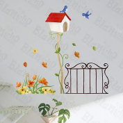 Spring Waltz - Hemu Wall Decals Stickers Appliques Home Decor 32cm BY 60cm