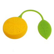 onewiller Lemon Shaped Silicone Perforated Tea Filter Infuser