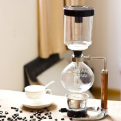 TAMUME 5 Cup Syphon Maker Vacuum Coffee Maker for Brewing Coffee and Tea with Extended Handle