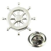 Ship Wheel Lapel Pin Badge