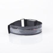 Flash Led Reflective Strap Snap Wrap Arm Band Belt Safety Armband Light Up Fun Rave Party-Blue