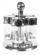 PINFI 81509 Stainless Steel Rotating Spice Rack and say, 5 Cavities