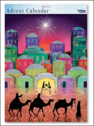 We Three Kings Nativity Silhouette large advent calendar with White Envelope 315 x 410 mm