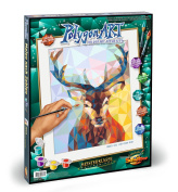 Schipper 609460737 Polygon Art Stag Paint By Numbers Board