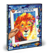 Schipper 609460738 Polygon Art Lion Head Paint By Numbers Board