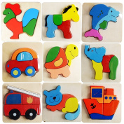 Uniry(TM) BS#S Wooden Kid Child Cartoon Animal Design Puzzle Game Educational Toy