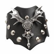 Ultra Gothic Bat Leather Goth Steampunk Style bracelet wrist cuff wristbands gothic biker rock adult teens