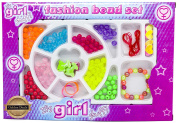 Girl Staff Fashion Bead Set ~ Kids Jewellery Making Kit ~ Craft Box ~ Girl, Girls, Childrens, Childs, Kids Best, Top, Most Popular Present, Gift ~ Toys, Games For Christmas Stocking Filler