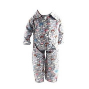 Veroda Dog Printed Pyjamas Outfit for American/Our Generation/Journey Girl 46cm Doll