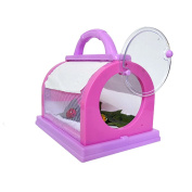 Ashdown Kids Explore Kits Magnifier Insect Feeding Cage Bug Viewer Catcher Children Birthday Gifts,Pink