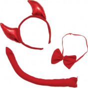 P 'tit clown 60125 Devil Set headband tail and Bow Tie - Red
