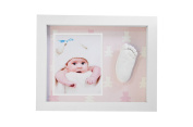 Kit Casting Footprint 3D Baby with Frame -Back Pink Bears