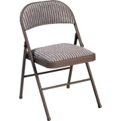 Deluxe Padded Steel Fabric Folding Chair - Brown