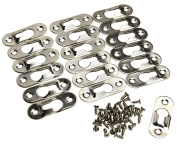 20 x Keyhole Hanger Fasteners 42mm x 16mm for Picture Frames Mirrors Cabinet