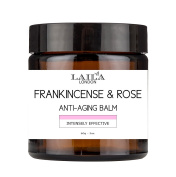 Laila London Frankincense and Rose Anti-Ageing Balm 100% Natural and Organic Face and Body